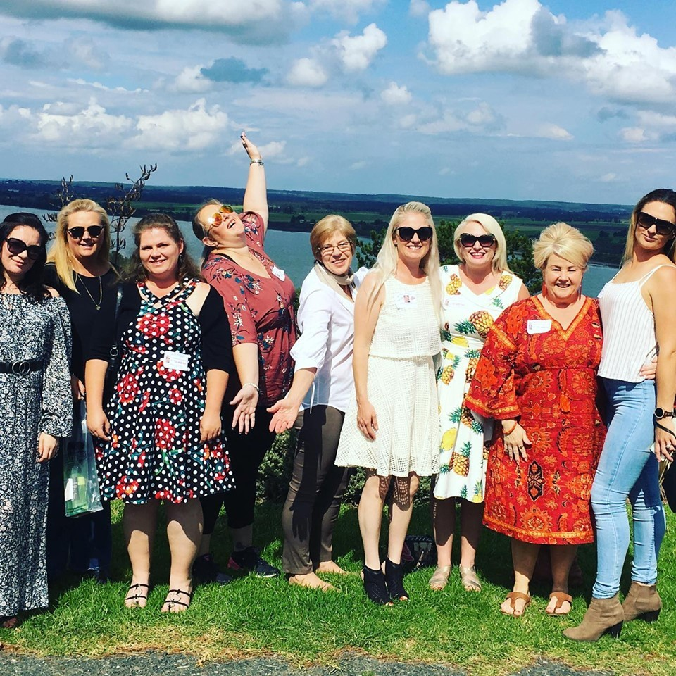 Group of women celebrating Mothers Day with a South Coast Journeys tour