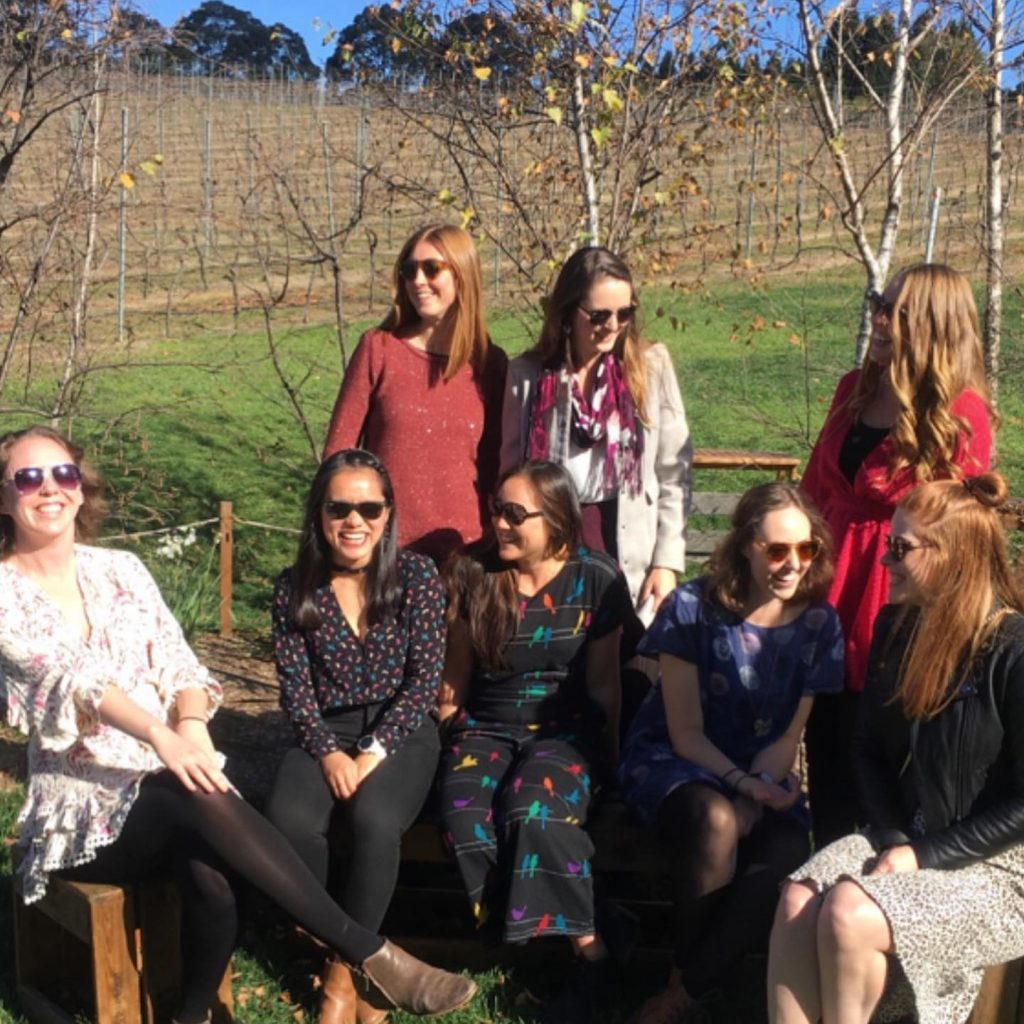 Girls in the vines