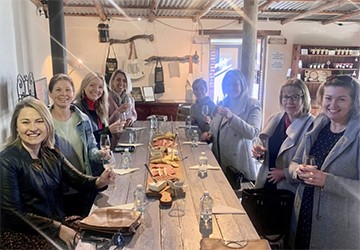 Small group enjoying a Southern Highlands Winery Tour